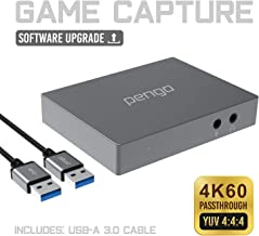 Pengo 4K HDMI Pass-Through Grabber, Game Capture Card at 1080p @60, No Driver, USB 3.0 UVC Works with Win, Mac OSX, min to...