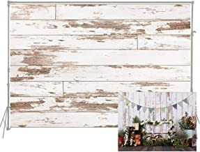 HUAYI White Wood Wall Cotton Cloth Backdrop Newborn Photography Baby Photo Studio Props Adults Portrait Pictures Background 5x6.5foot D-7619