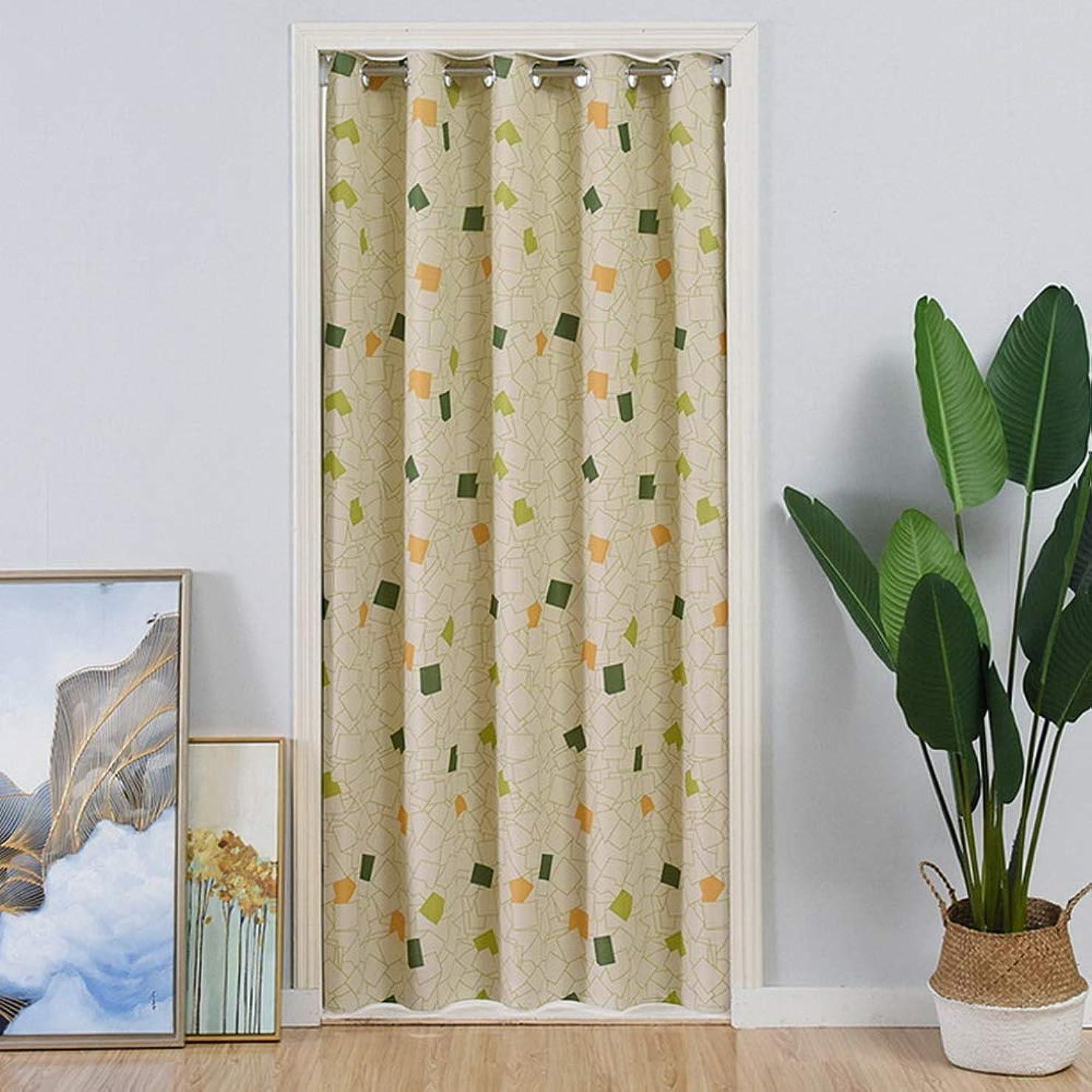 カラースクエア カントリーカーテン 遮光カーテンの印刷 戸口用グロメットドレープ ルームダークニング 断熱 エネルギー効率 ベイウィンドウのウィンドウ処理 間仕切り1枚組幅100*丈200CM