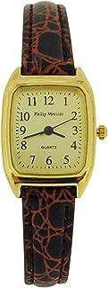 Philip Mercier for Women Brown Plastic Strap Watch SML09°C