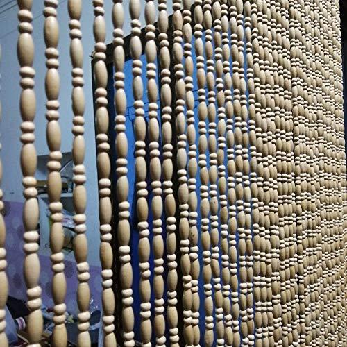 SSRS Natural de Madera Que cuelga Cortinas moldeadas de Paneles de Puertas de Cuerdas de Entrada salón Cortina Dormitorio rústico, Personalizable Superficie Lisa perlada