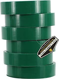 """6 Pack of Mighty Gadget (R) Professional Grade UL Listed Green Color PVC Electrical Tapes with Durable Rubber Based Adhesive, Rated up to 600 Volts and 176 °F - Dimensions: 3/4"""" (W) x 60 Feet (L)"""