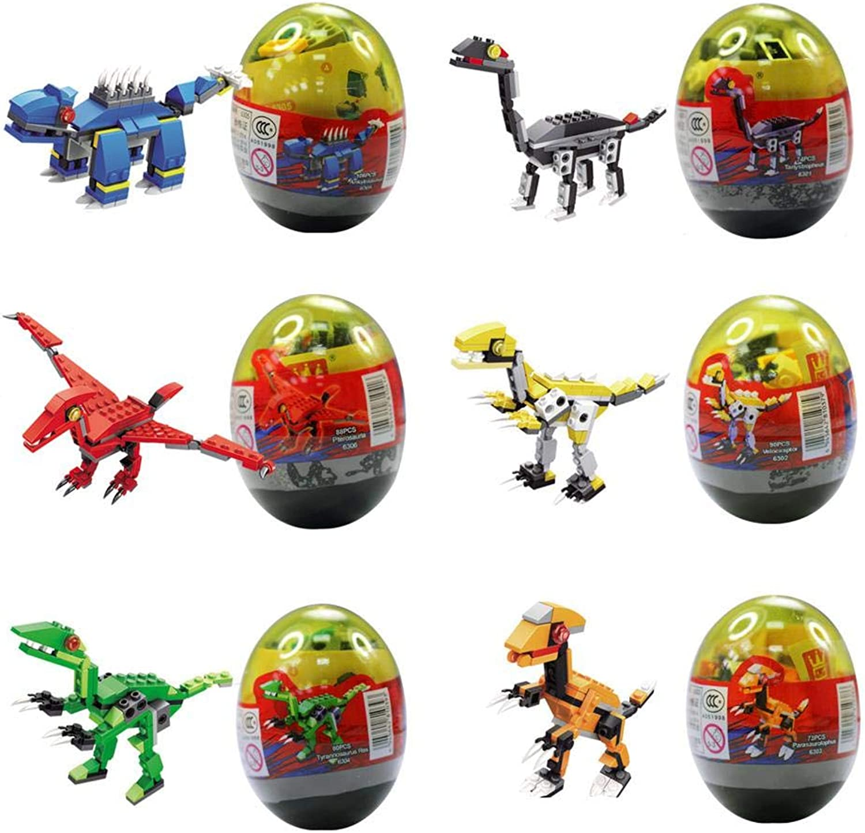 DIY Dinosaur Building Blocks, 12 Pack Dinosaur Building Kit Mini Education Build A Dinosaur Toys Wrapped in Egg for Age 6