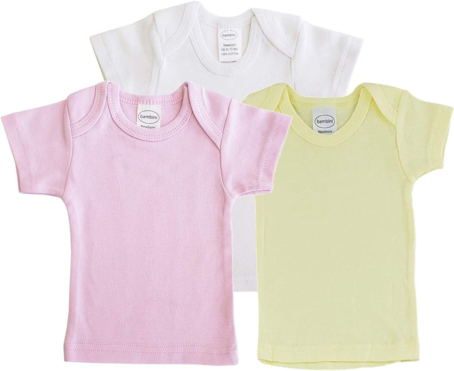 Unisex Baby Short & Long Sleeve Tee Shirts, 100% Cotton for Variety Packs of 3-Pack/ 6-Pack