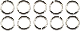 Cousin Jewelry Basics 4949448 Platinum Plate 6mm Jump Ring, 16-piece