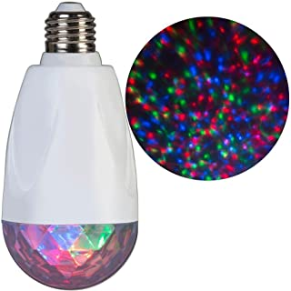 Gemmy LED Projection Kaleidoscope RGB Indoor Light Bulb Holiday Christmas Decoration