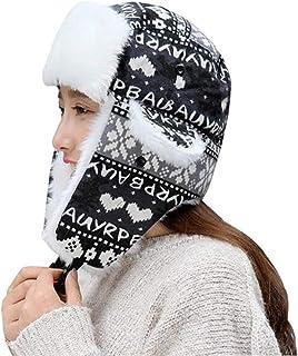 Unisex Aviador Gorra Hombres Navidad De Patrón Mujeres Trapper Modernas Casual Cálido Moda Esquí con Orejeras Sombrero De Piel Sintética