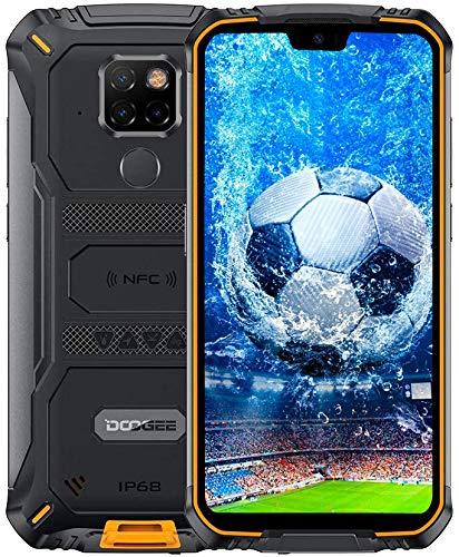 DOOGEE S68 Pro Outdoor Smartphone ohne Vertrag, Helio P70 Octa Core 6GB + 128GB, IP68-Wasserdichtes Handy, 6300-mAh-Akku (Kabellose Aufladung), 21MP + 16MP AI Kamera, 5,9-Zoll- FHD +, GPS NFC-Orange
