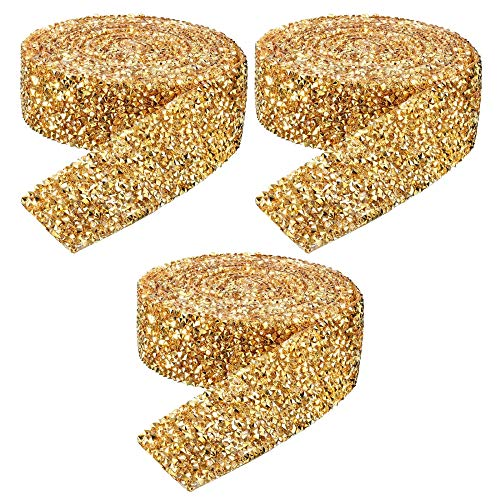 3 Rollos Cinta de Diamantes de ImitacióN, 3 cm Cintas Diamantes Cinta...