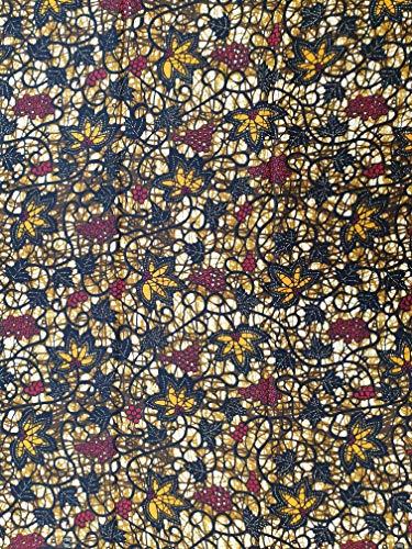 Tela estampada de algodón - Diseño Superwax - Paquete de 6 yardas - 5.5 m de largo x 1.2 m de ancho - 100% algodón - Tela de Ankara para la confección de telas, tela de diseño de moda africana
