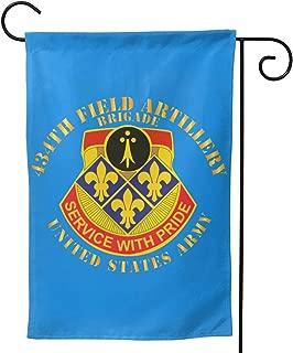 434th Field Artillery Brigade W DUI Us Army Garden Flag Yard Garden Flag Double-Sided 12.5