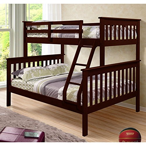DONCO Bunk Bed Twin Over Full Mission Style