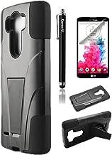 Cover-U® LG G Vista VS880 (Verizon / AT&T) Hybird Dual Layer Armor Case with built in Kickstand Black/Black Included [Premium Screen Guard + Cover U (TM) Stylus Pen + Anti-Dust Plug]