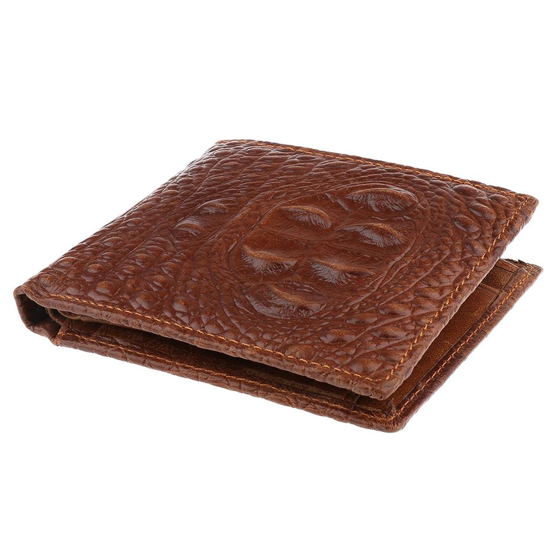 問題国民マイルドPrettyia メンズ 新しい 高級品質 PUレザーウォレット クレジットカードホルダー 財布 クリスマスギフト