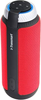 Tronsmart T6 25W Bluetooth Speaker with Dual-Driver 360 Degree Surround Sound, 15 Hours Playtime,33 Feet Bluetooth Range,and AUX cable,Portable Wireless Hands Free Calling for Outdoor Home Red