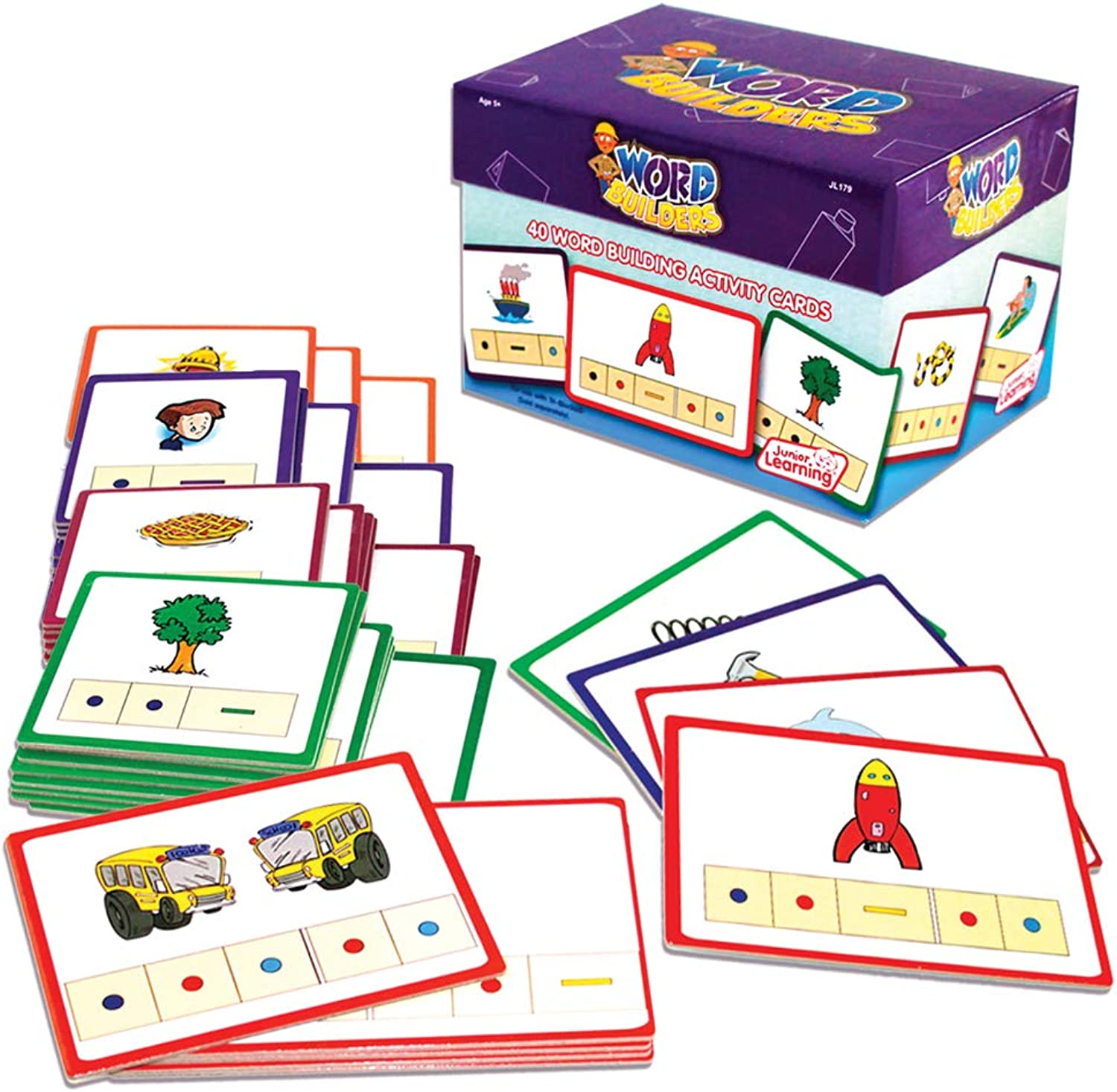 hasta un 50% de descuento Junior Learning Word Builders Activity Cocheds by by by Junior Learning  elige tu favorito