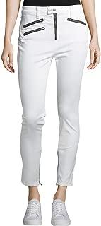 Rag & Bone White High Rise Biker Jeans (27)