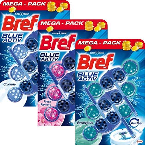 Bref Nettoyant WC Blocs – Blue Activ Hygiène Antitartre Anticalcaire, EcoPack 9x50 gr.