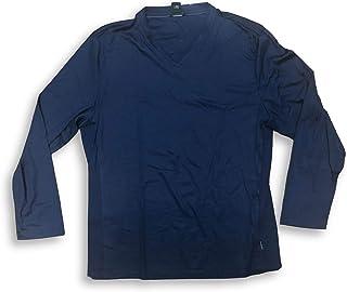 Calvin Klein V-Neck Long Sleeve Adult Atlantis Blue Men's Shirt