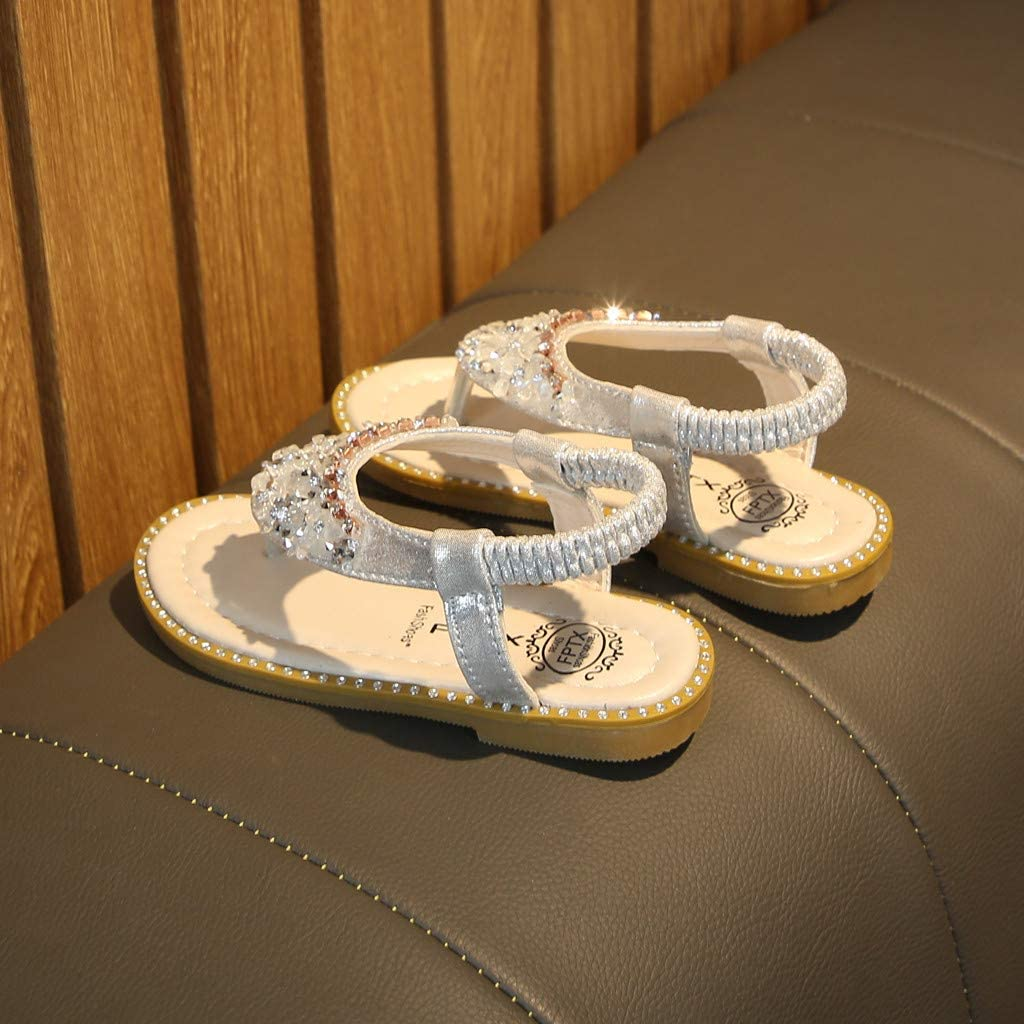 Baby Shoes,VoberryToddler Kids Baby Girls Crystal Toepost Elastic Band Princess Shoes Sandals