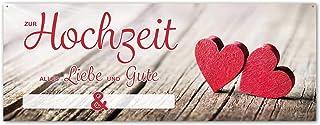 Banner » Geschenk zur Hochzeit - Herzlichen Glückwunsch › 160 cm breit – Zum Beschriften mit den Namen des Brautpaares » Tolle Geschenkidee