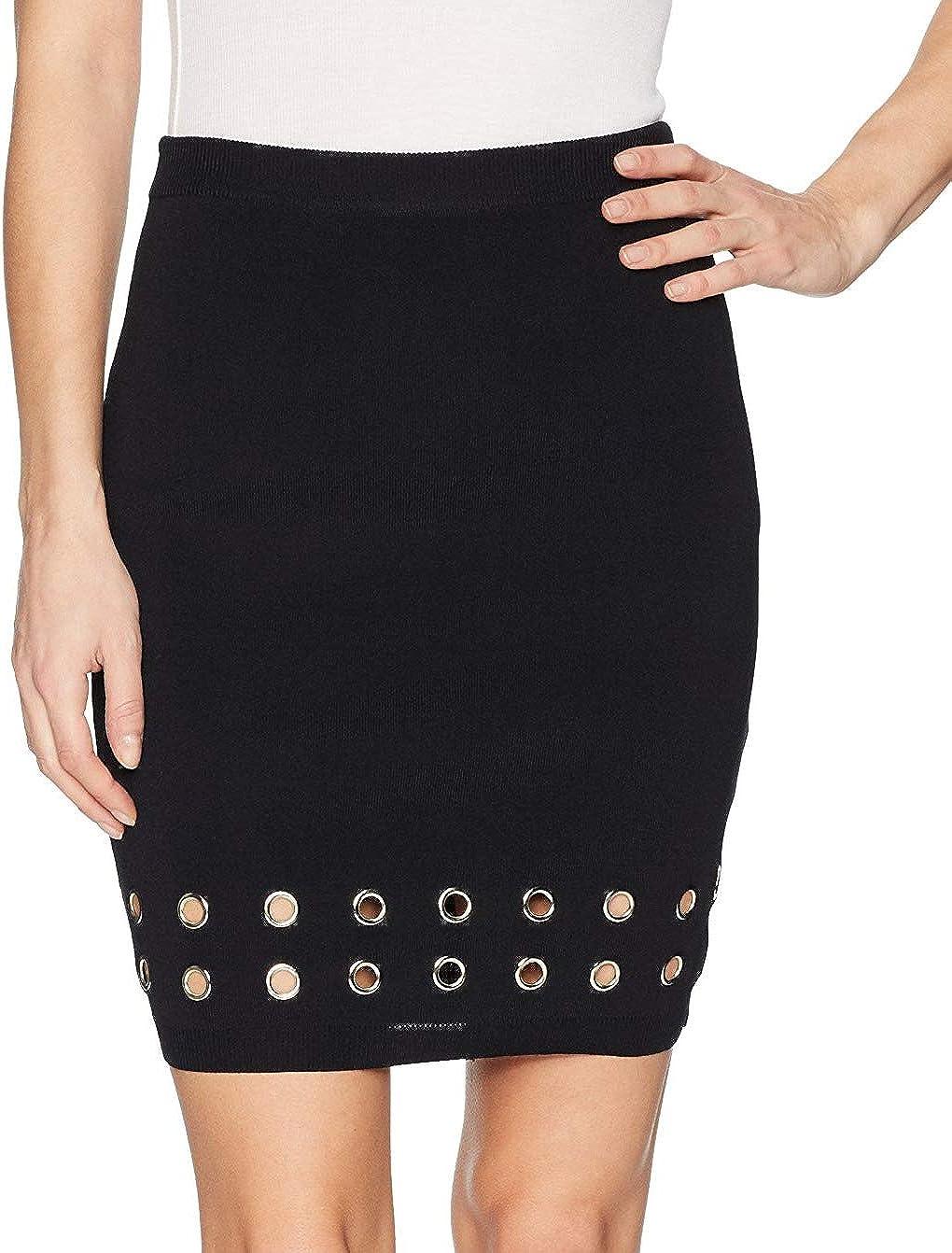 MINKPINK Women's Eyelet Rib Skirt