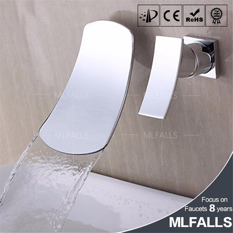 ETERNAL QUALITY Badezimmer Waschbecken Wasserhahn Messing Hahn Waschraum Mischer Mischbatterie Tippen Sie auf den Wasserfall 3 Stück Waschbecken Waschbecken Wasserhahn ve