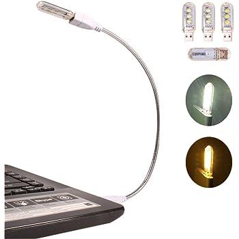 LAMPADA LUCE A LED PER PC NOTEBOOK NETBOOK 5 LED USB 2.0 FLESSIBILE REGOLABILE