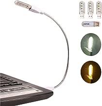 EBYPHAN Modern USB LED Lamp, Computer Keyboard Light for Laptop, Flexible Gooseneck Tube + Stylish Detachable Lampshade with 4 Mixed USB LED Lights (2 White + 2 Yellow)
