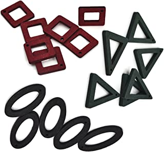 Geometrical Mixed Color Laser Cut Wood Pendants Charms Earring Dangle Drops Jewelry Findings and Supplies 40Pcs