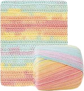 Pigeon Fleet 1 Skein DIY Handcraft Hat Lace Yarn Rainbow Yarn for Handmade Handbag Crochet Doll