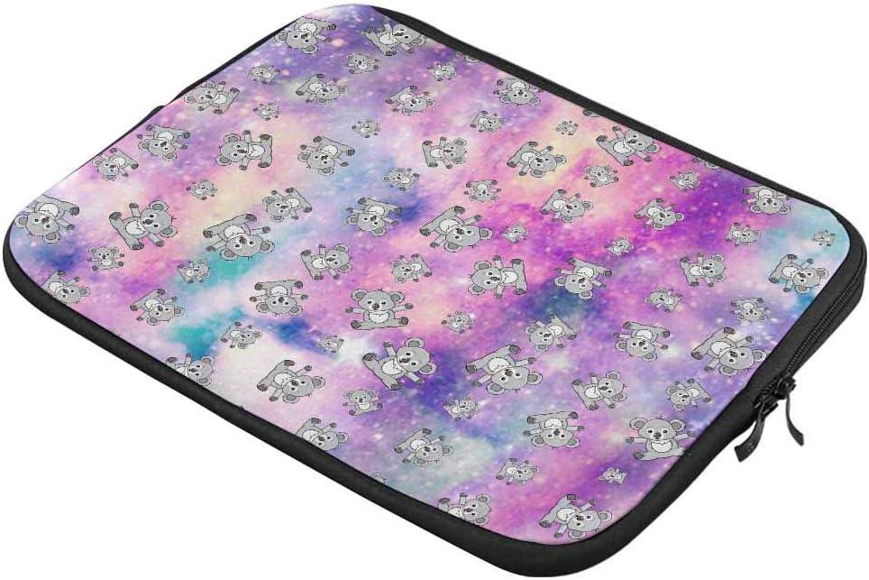 INTERESTPRINT Laptop Sleeve Koala Universe Filled with Stars Nebula and Galaxy Notebook Neoprene Pouch Case Bag 13 Inch 13.3 Inch