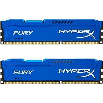HyperX HX318C10FK2/8 Fury 8 GB (2 x 4 GB), 1866 MHz, DDR3, CL10, UDIMM, 1.35V, Blu