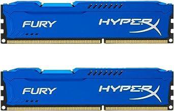 HyperX Fury - Memoria RAM de 16 GB (1866 MHz DDR3 Non-ECC CL10 DIMM, Kit 2x8 GB), Azul