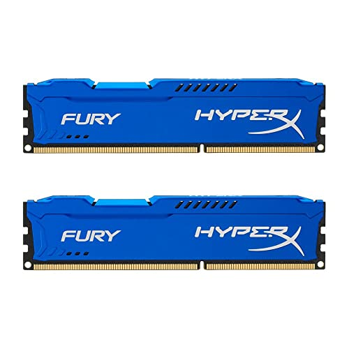 HyperX Fury - Memoria RAM de 8 GB (1600 MHz DDR3 Non-ECC CL10 DIMM, Kit 2x4 GB), Azul