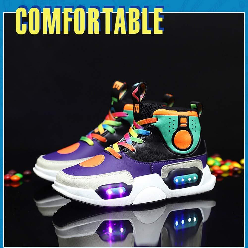 Mujer Zapatillas Running 2019, LED Zapatos Niño y Niña, Colores USB Carga Zapatos para Correr, Deporte de Zapatillas Mejores Regalos, Zapatilla Antideslizante para Hombre y Mujer: Amazon.es: Hogar