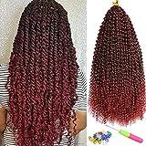7 Packs Passion Twist Hair 18 Inch Water Wave Passion Twist Crochet Braiding...