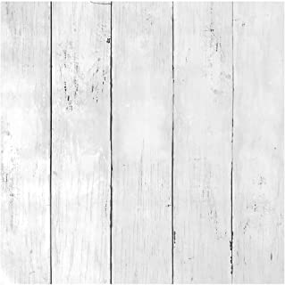 Livelynine Distressed White Wood Wall Paper Decorative Wall Covering Adhesive Shiplap Peel and Stick Wood Planks for Walls Removable Wallpaper Decorations Shiplap Bulletin Board Paper 17.7