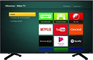 Hisense 50R6DM Televisor LCD, Pantalla 50R6 UHD 4K Sistema Roku Televisor, Color Negro (Reacondicionado)