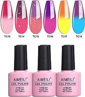 AIMEILI Soak Off UV LED Gel Nail Polish Multicolour/Mix Colour/Combo Colour Set Of 6pcs X 10ml - Kit Set 16