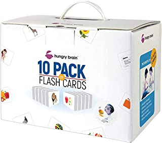 """Krazy Hungry Brain """"A"""" Flash Cards Set for Kids -Box of 10"""