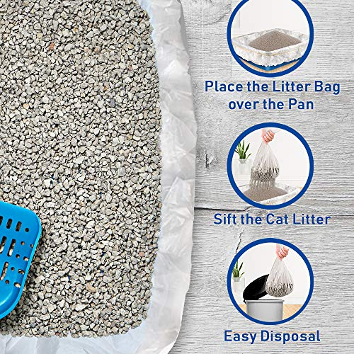 Alfapet Kitty Cat Pan Disposable, Sifting Liners- 10-Pack + 1 Transfer Liner-for Large, X-Large, Giant, Extra-Giant Size Litter Boxes-Included Rubber Band for Firm, Easy Fit - Pack of 3