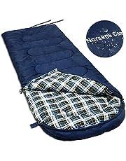 Norsens 寝袋 冬用 封筒型 コンパクト シュラフ 秋用 室内用 キャンプ 登山 春用 軽量 防水 大サイズ 洗い可能 収納袋付き