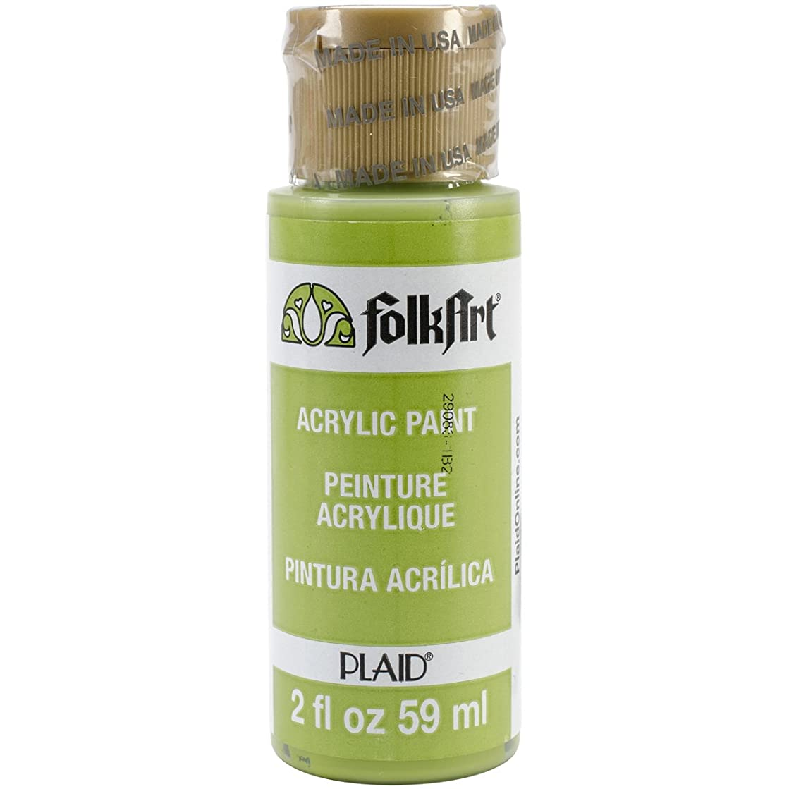 FolkArt Acrylic Paint in Assorted Colors (2 oz), 2552, Citrus Green