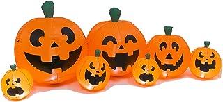 One Holiday Way Cheerful Lighted Inflatable Halloween Pumpkins – Outdoor Halloween Yard Decoration