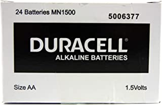 Long Lasting Power Duracell Alkaline AA Battery 24 Pack, (03984)