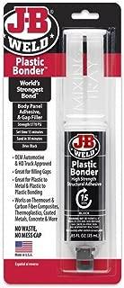 J-B Weld 50139 Plastic Bonder Body Panel Adhesive and Gap Filler Syringe - Dries Black - 0.25 Milliliter (2 Pack)