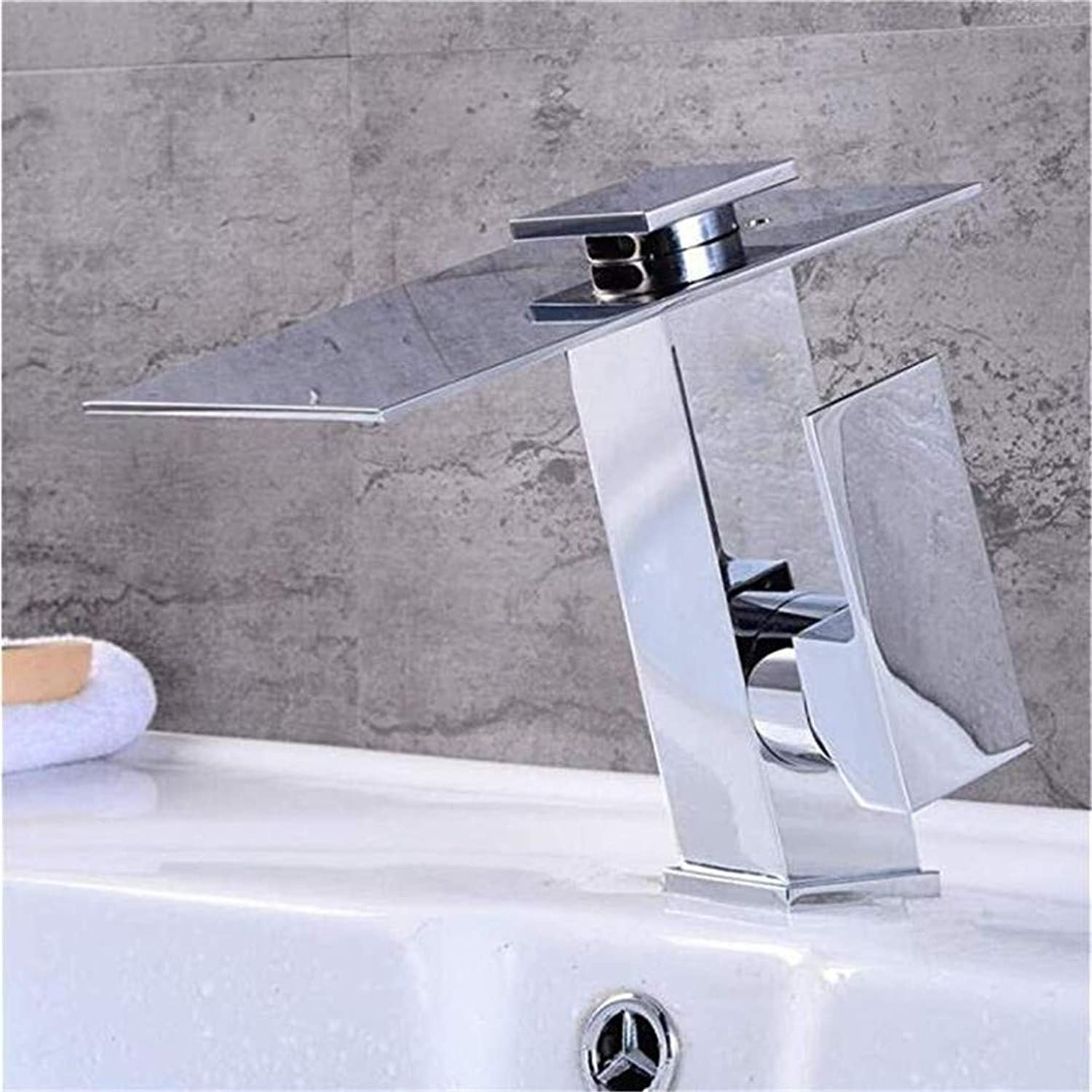 Oudan Taps Kitchen Faucetbathroom Sink Tapwaterfall Faucet European Copper Retro Hot and Cold Bathroom Sink Faucet Sink Mixer Tap Brushed Chrome Plating Faucet (color   -, Size   -)