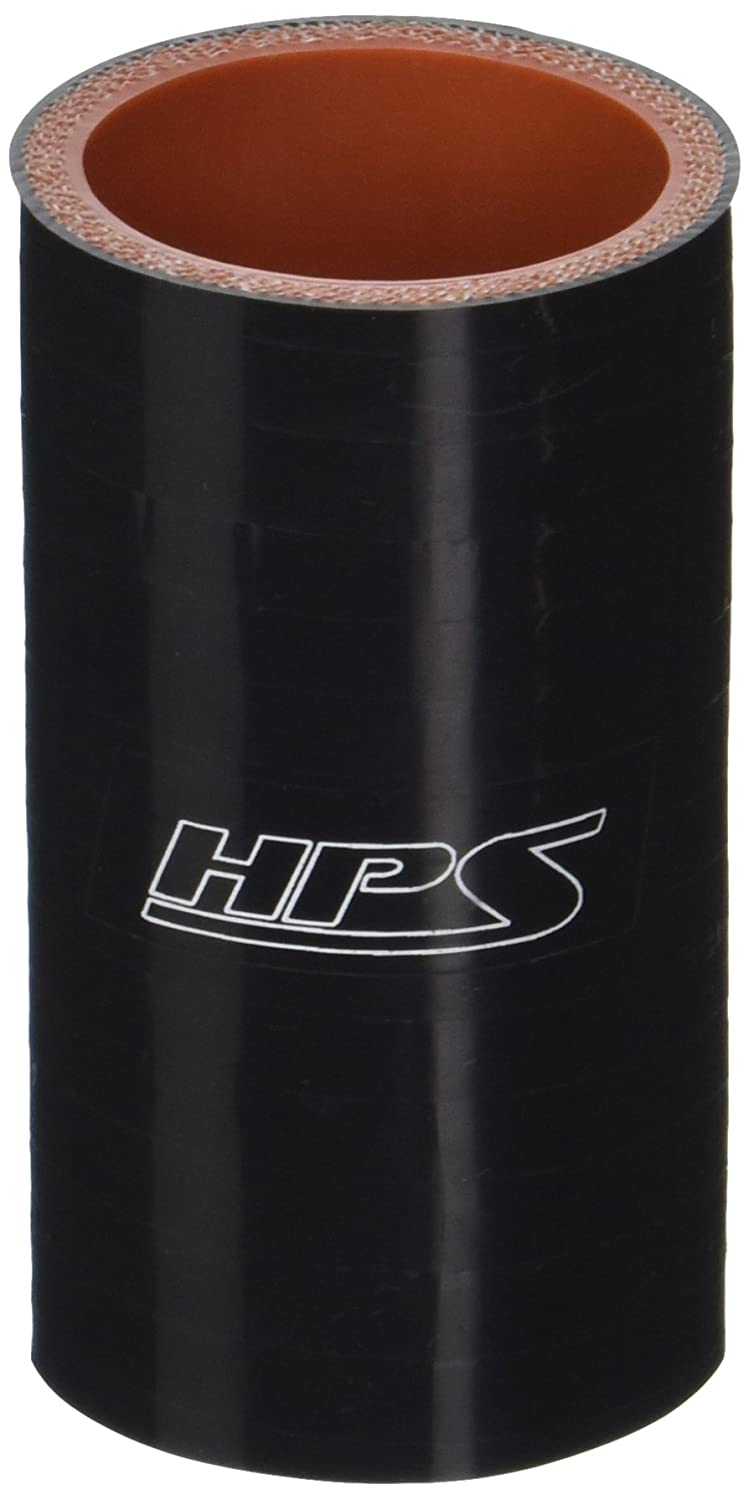 HPS HTSC-138-BLK Silicone High Temperature 4-Ply Reinforced Straight Coupler Hose, 100 PSI Maximum Pressure, 3