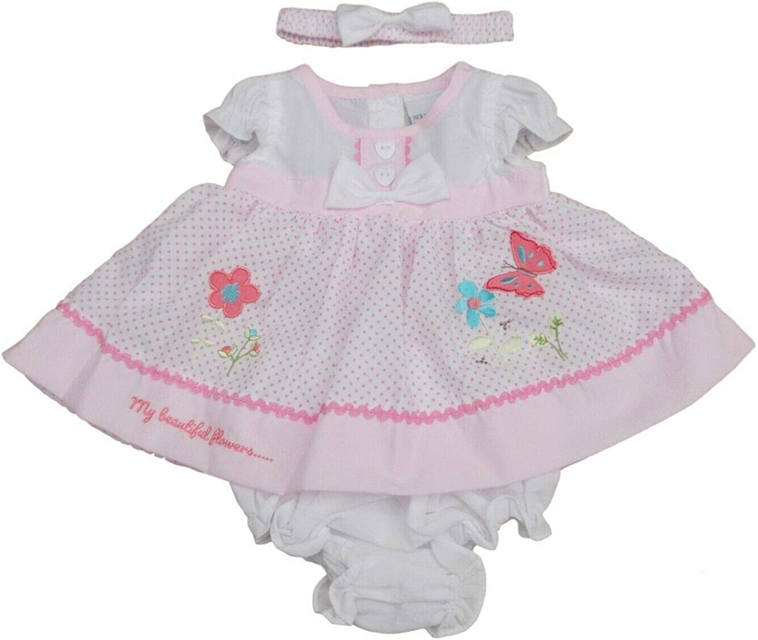 Premature Tiny Baby Butterfly /& Flowers Summer Dress Set Clothes Nursery Time with Tags